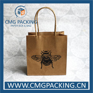 Recycled Food Grade Green Printing Kraft Paper Bag (DM-GPBB-218) pictures & photos