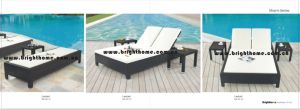 Beach Sun Lounge Outdoor Furniture PE Rattan Wicker Furniture pictures & photos