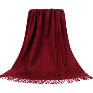 Fashion Accessories  Wine Red Cashmere Wrap Lady Scarf pictures & photos