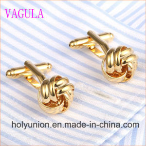 VAGULA Gemelos Men French Shirt Knot Brass Cuff Links 352 pictures & photos