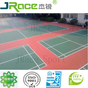 All Weather Rubber Badminton Court for Sale pictures & photos