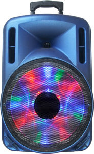 12 Inch Portable Battery Speaker, USB, Disco Light, FM Radio F12-1 pictures & photos