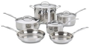 10-Pieces Stainless Steel Cookware Set pictures & photos