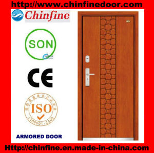 High Qualitysteel-Wood Armored Doors (CF-M042) pictures & photos
