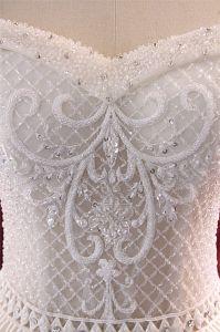 Beading Spaghetti Ball Bridal Wedding Gown pictures & photos