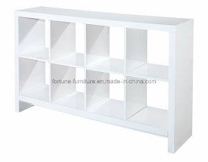 Modern Wooden High Gloss White Bookcase (4*2 bookcase)
