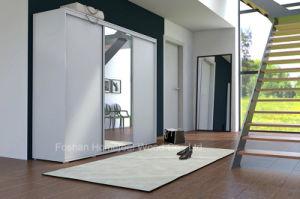 Popular White Mirror Living Room Wardrobe Closet (HF-EY062) pictures & photos