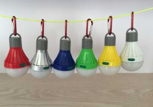 Colorful Bulb Shape LED Camping Lantern with Carabiner (MC5007) pictures & photos