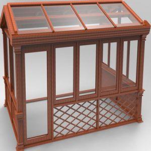 Garden Aluminum Glass Sun Rooms /Outdoor Glass Sun Room (TS-1138) pictures & photos