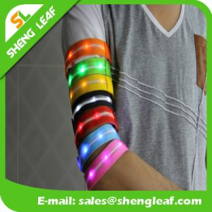 Custom Logo Available LED Safety Reflective Glowing LED Armlet Band pictures & photos