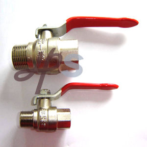 Brass Ball Valve M/F Thread Plated Nickel Surface pictures & photos