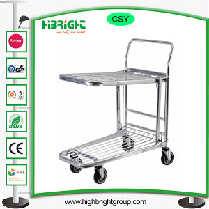 Large Wheels Warehouse Hand Push Trolley Tool Cart pictures & photos