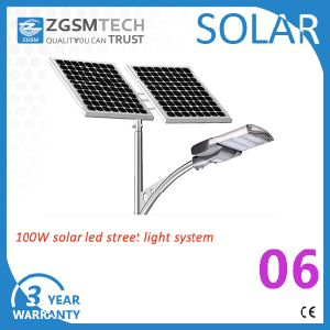100W LED Solar Outdoor Street Light with Ce RoHS UL pictures & photos