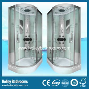L Shape Deluxe Multifunctional Shower Cubicle with Big LED Lamp (SR119C) pictures & photos