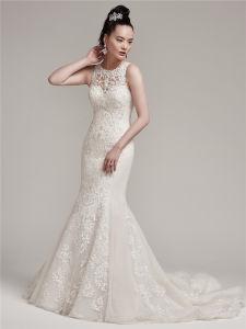 Long Train Luxury Heavy Beading Glass Drill Mermaid Wedding Dresses