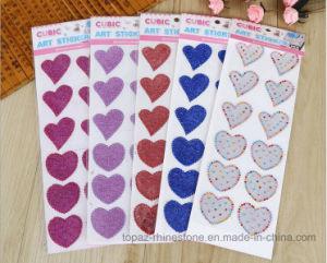 Heart Shape Cartoon Sticker Wall Decals Glitter Crystal Stickers (TS-515 heart glitter) pictures & photos