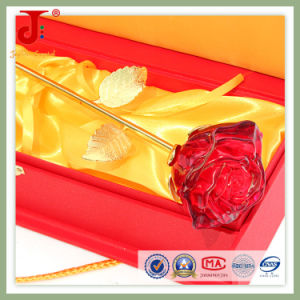 6*6*30cm Rose Open Crystal Glass Flower (JD-CF-102) pictures & photos