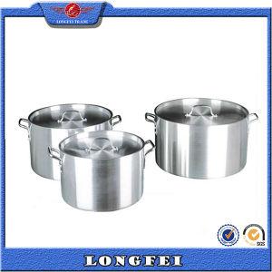 China High Quality Deep Aluminum Cooking Pot pictures & photos