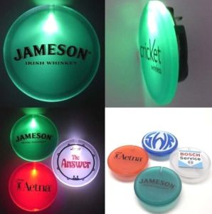 LED Light up Butterfly Button with Logo Printed (3569)