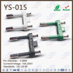 Italy 10A Hollow Two Pins Plug Insert (YS-015) pictures & photos
