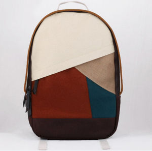 Novelty Color Block Design Backpacks pictures & photos