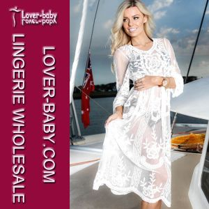 White Lace Beach Cover up (L51312) pictures & photos
