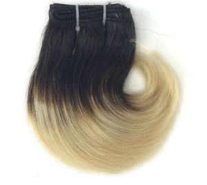 Factory Price Ombre Blonde Color Human Hair Weft pictures & photos
