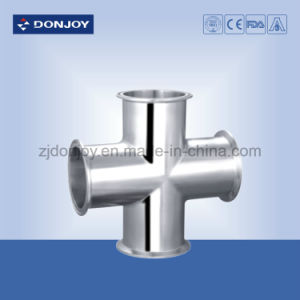 Sanitary Stainless Steel Clamp Cross Pipe Fittings pictures & photos