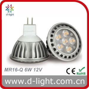 LED Bulb MR16 Aluminum Body 6W 12V 420lm pictures & photos