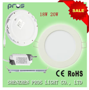 Slim Recessed Surface Mounted China 18W LED Panel Light Round pictures & photos