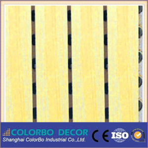 Meeting Room MDF Sound Absorb Grooved Wood Acoustic Board pictures & photos