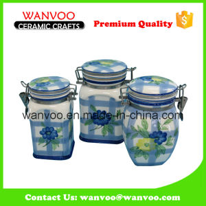 Ceramic Decorative Airtight Canister for Kitchen Food Container pictures & photos
