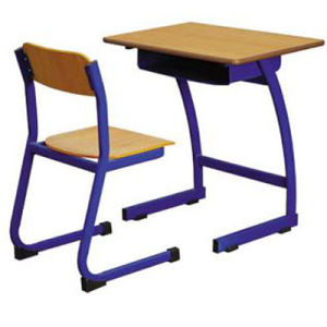 Popular Wooden Classroom Single Desk and Chair/School Furniture (FS-3213) pictures & photos