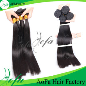 100% Double Weft Stitched Remy Yaki Human Hair Weave pictures & photos