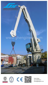 Knuckle Boom Crane on Ship Deck Port pictures & photos