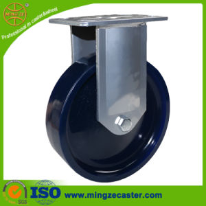 Rigid Blue Solid PU Industry Wheels Caster pictures & photos