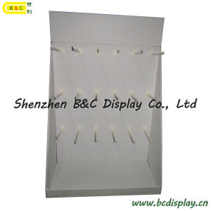 Customzied Eco-Friendly Cardboard PDQ Display Box with Plastic Hooks (B&C-D056) pictures & photos