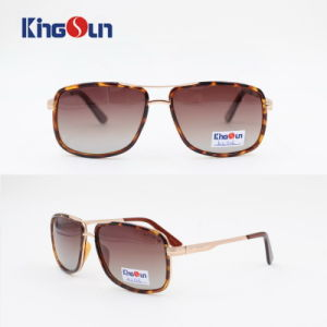 Square Shape Sunglasses Metal and Tr Combined Front Ks1113 pictures & photos