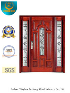 Classic Style Security Door with Glass and Iron (B-9008) pictures & photos