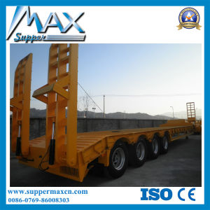 16.55m 4 Axles Low Bed Semitrailer pictures & photos