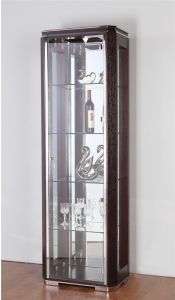 Anqutie Style Wine Cabinet Glass High Cabinet pictures & photos