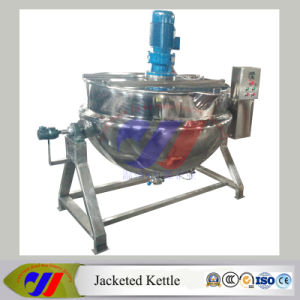 600L Automatic Tilting Steam Heating Jacketed Cooking Kettle pictures & photos