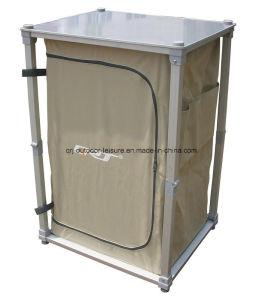 Aluminum Quality Folding Portable Storage 3 Shelves Concertina Cupboard (QRJ-G-006) pictures & photos