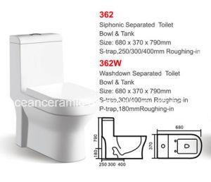 Siphonic One-Piece Toilet (No. 362) S Trap, P Trap pictures & photos