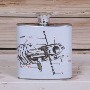 Decal Printing Hip Flask with Full Color Logo pictures & photos