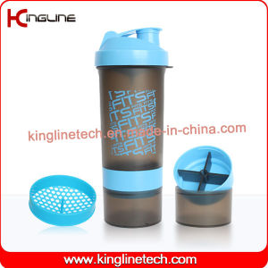 600ml shaker bottle, with powder and pills container(KL-7004) pictures & photos