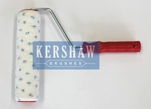 013 Paint Roller (White With Blue Spots With Long Plastic Handle) pictures & photos