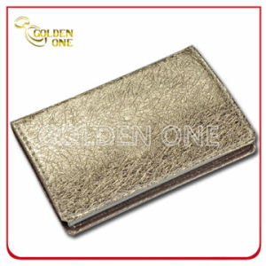High Quality Gold Fold Pattern Leather Card Case pictures & photos