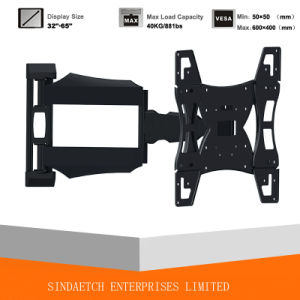 Solid Full Motion Wall Mount for Most 32′′-65′′ LED/LCD Flat Panel Tvs pictures & photos