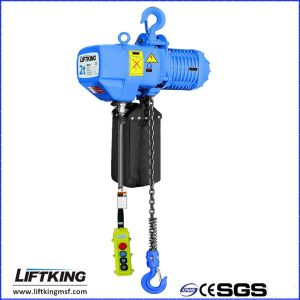 Warehouse Single Lifting Speed Electric Chain Hoist with 2 Chain Falls pictures & photos